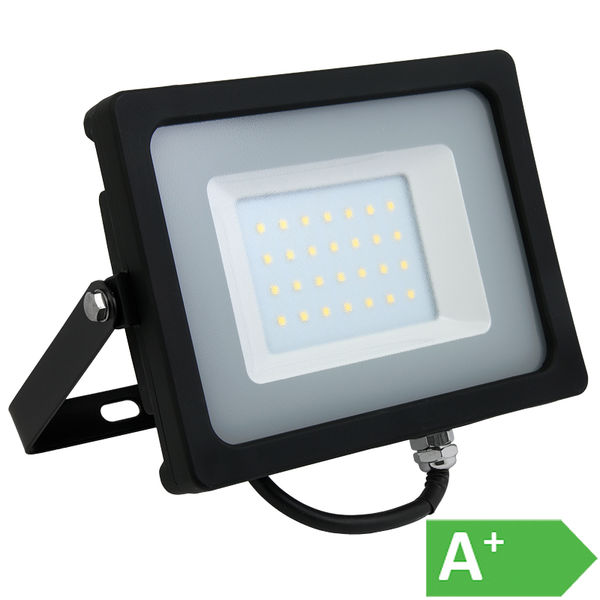 LED-HEITIN 30W 4000K 2550LM IP65  MUSTA